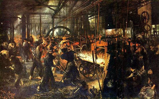 steel mill adolf menzel industrial revolution Industrial Demand for Gold