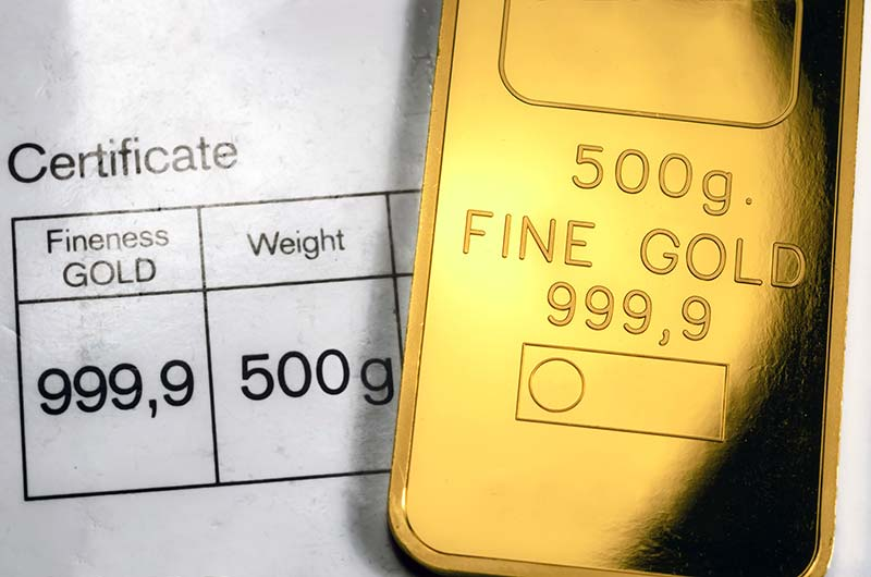 Millesimal Fineness of Gold